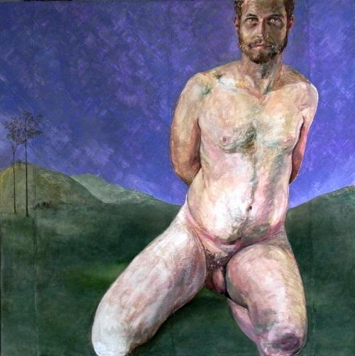 Le beau jardinier, 2013, 100 x x100, Öl/Leinwand