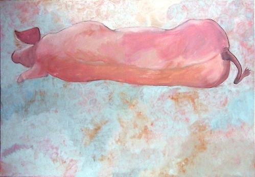 Marat, 2003, 90 x 130, Öl/Leinwand