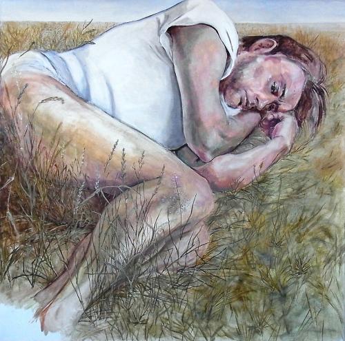 The gentle giant (featuring Mathias Noack), 2014, 100 x 100, Öl/Leinwand
